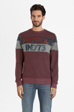 Sweat-shirt PETROL INDUSTRIES SWR 309 Rouge bordeaux