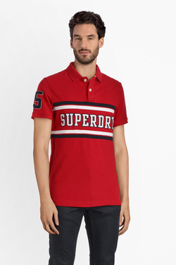 Polo SUPERDRY M11012ER Rouge