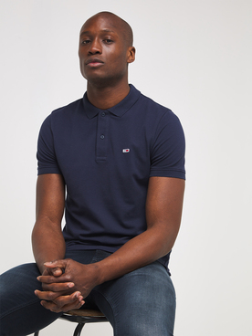 Polo TOMMY JEANS SOLID STRCH Bleu marine