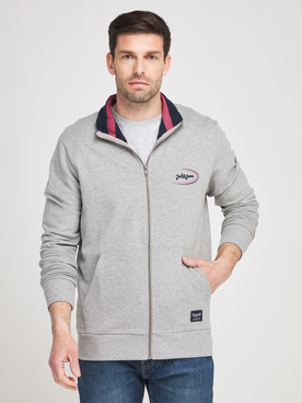 Sweat-shirt JACK AND JONES RILEY SWT Gris clair