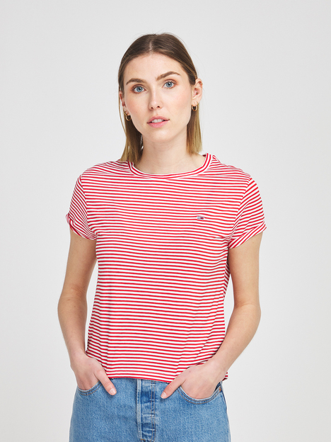 Tee-shirt cropped fines rayures TOMMY JEANS