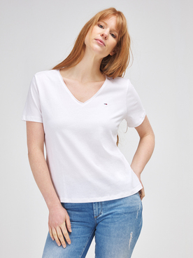 Tee-shirt TOMMY JEANS JERSEY SLIM TJ Blanc