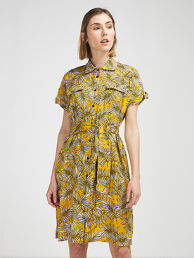 Robe LA FEE MARABOUTEE FA RO MAGALIE Jaune moutarde