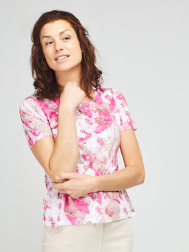 Tee-shirt DIANE LAURY 57DL2TS100 Rose fuchsia