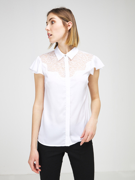 Chemise manches courtes GUESS W1RH85W5OC2 Blanc