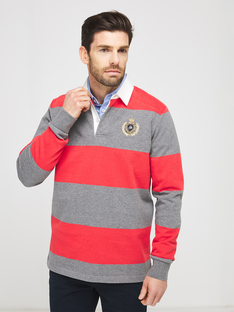 Polo rayures rugby col chemise CAMBRIDGE LEGEND