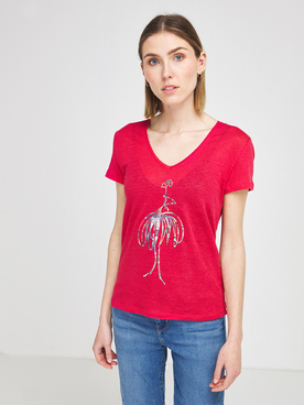 Tee-shirt ONE STEP FS10211 Rose fuchsia