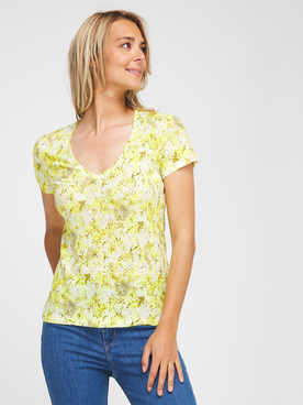 Tee-shirt ONE STEP FS10091 Jaune