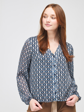 Chemise manches longues ONLY 15225271 Bleu