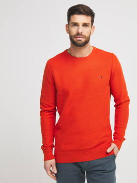 Pull TOMMY HILFIGER MW0MW15435 Rouge vermillon