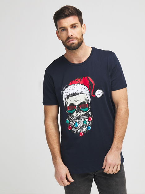 Tee-shirt motif noël JACK AND JONES