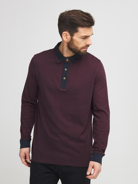 Polo COMMANDER 214007949 Rouge bordeaux