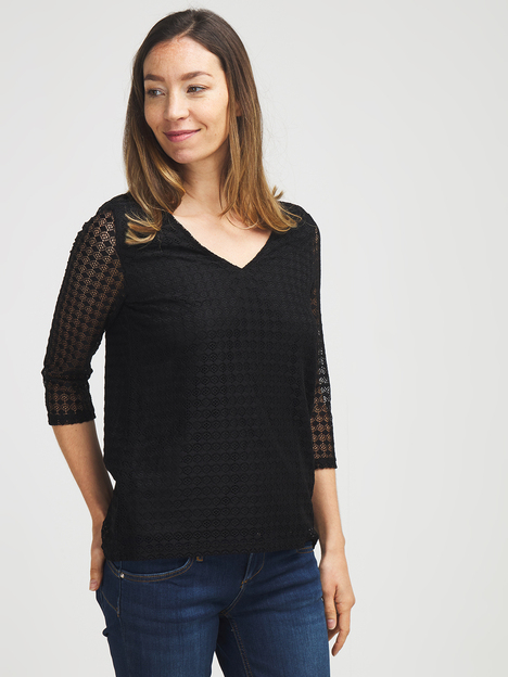 Tee-shirt en dentelle stretch NINA KALIO