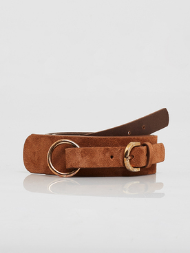 Ceinture PIECES 17106680 Marron