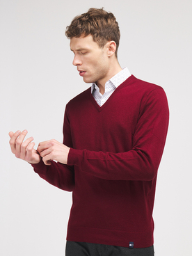 Pull COMMANDER 214007930 Rouge bordeaux