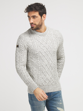 Pull SUPERDRY JACOB CABLE Beige