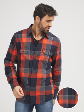 Chemise manches longues LEE WORKER SH Rouge