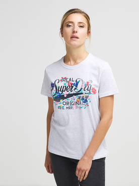Tee-shirt SUPERDRY OR FLORAL Gris