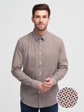 Chemise manches longues ODB 56OD1CS103 Camel