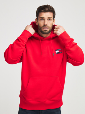 Sweat-shirt TOMMY JEANS BADGE HOOD2 Rouge