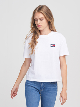 Tee-shirt TOMMY JEANS BADGE TEE Blanc