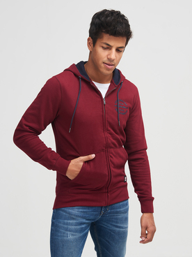 Sweat-shirt PETROL INDUSTRIES SWH 302-1 Rouge bordeaux
