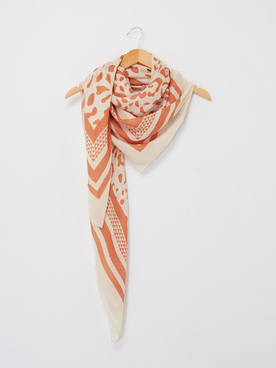 Foulard PIECES 17106493 Ecru