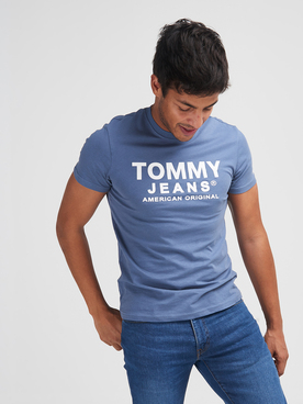 Tee-shirt TOMMY JEANS FRONT LOGO Gris