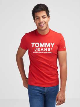 Tee-shirt TOMMY JEANS FRONT LOGO Rouge