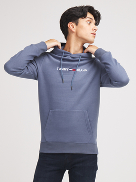 Sweat-shirt TOMMY JEANS LOGO HOODIE2 Gris