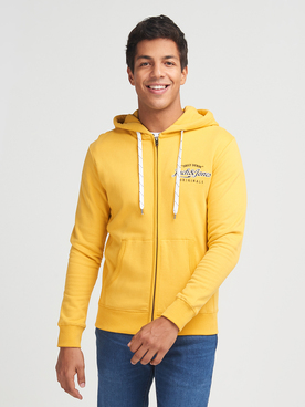 Sweat-shirt JACK AND JONES LARS SW ZIP Jaune