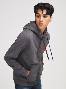 Sweat-shirt JACK AND JONES LARS SW ZIP Gris foncé