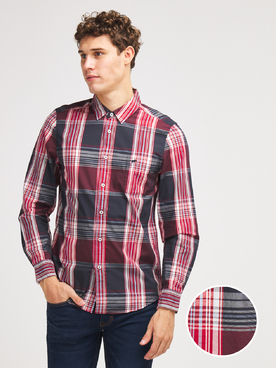 Chemise manches longues MUSTANG BIG CHECK SH Rouge