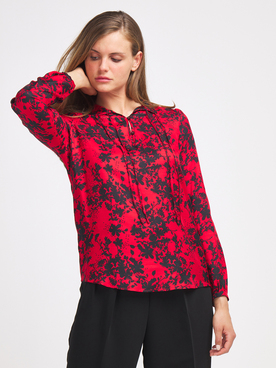Chemise manches longues IKKS BR13085 Rouge