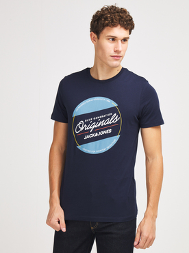 Tee-shirt JACK AND JONES ORTONNI TEE Bleu marine