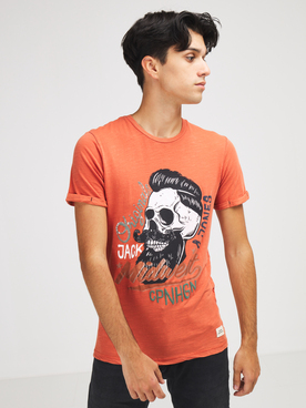 Tee-shirt JACK AND JONES CALOTTE TEE Orange