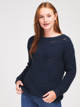 Pull ONE STEP FR18091 Bleu marine