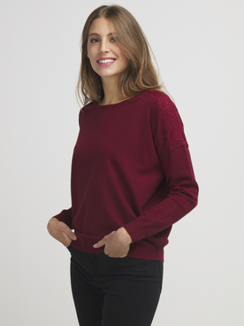 Pull MOLLY BRACKEN LA352A20 Rouge bordeaux