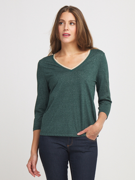 Tee-shirt manches longues ONLY 15214383 Vert