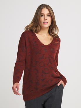 Pull ONLY 15208285 Rouge bordeaux