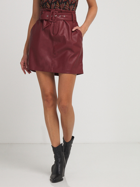 Jupe ONLY 15208693 Rouge bordeaux