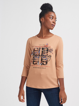 Tee-shirt manches longues BETTY BARCLAY 2341 1715 Beige