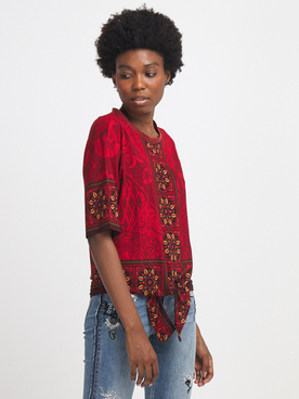Tee-shirt manches longues DESIGUAL 20WWTKA8 Rouge