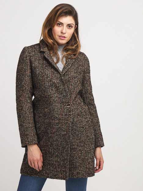 Manteau chiné laine majoritaire TRENCH AND COAT