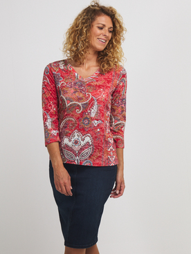 Tee-shirt manches longues DIANE LAURY 56DL2TS102 Rouge