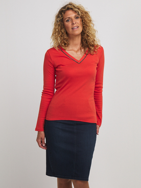 Tee-shirt manches longues DIANE LAURY 56DL2TS909 Rouge