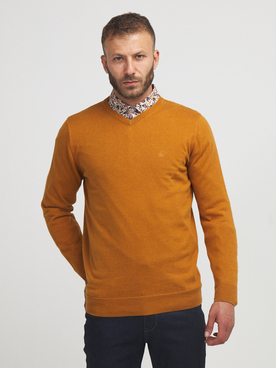 Pull CAMBRIDGE LEGEND 56CG1PU001 Jaune moutarde