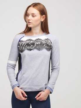 Tee-shirt manches longues ELISA CAVALETTI EJW205033400 Gris