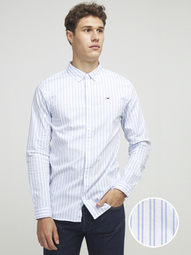 Chemise manches longues TOMMY JEANS POPLIN SHIRT Blanc