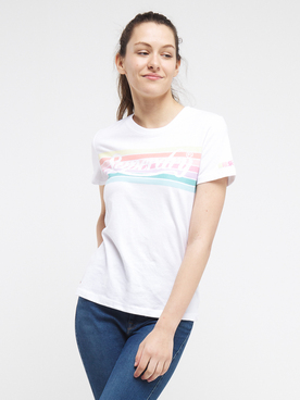 Tee-shirt SUPERDRY RAINBOW T 2 Blanc